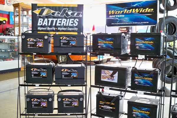 Batteries Anderson Indiana at T & J Tire